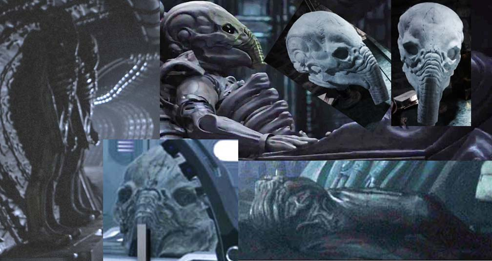 Ridley scott prometheus not the alien prequel details for Prometheus xenomorph mural