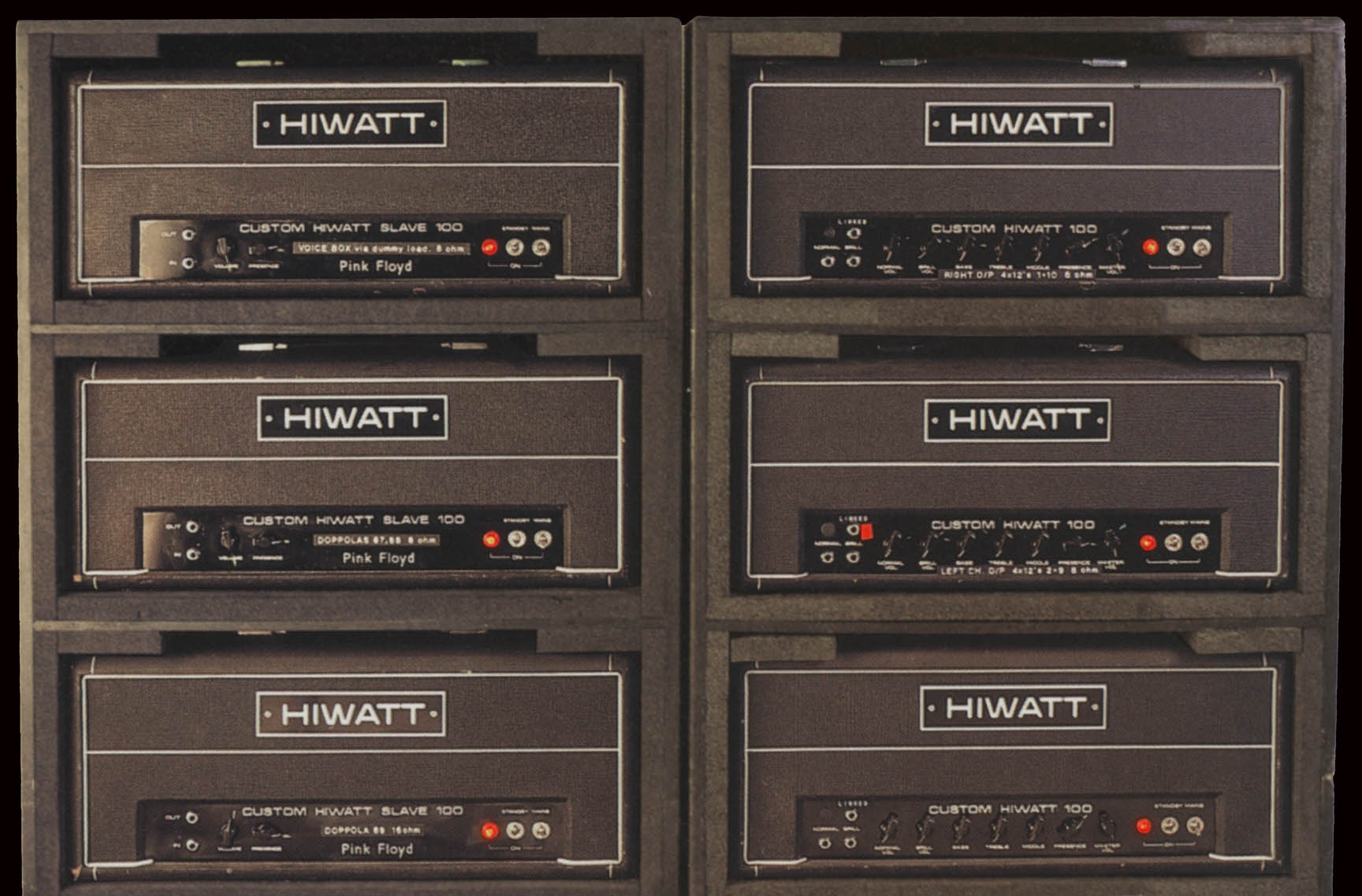 David Gilmour Tone Building Wiring Mod Diagram Hiwatt Custom 100 And Slave Amp Head Used On The 1994 Tour