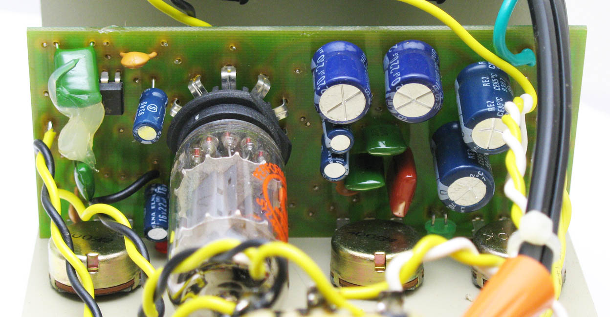 Bk Butler Tube Driver Guitar Wiring Two Volume One Tone Shown Above The Unauthorized 1988 Chandler Knockoff With A Different Stage