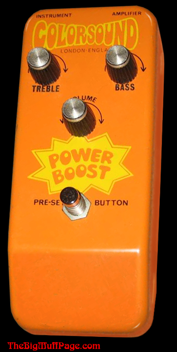 Colorsound Power Boost on Treble Booster Circuit