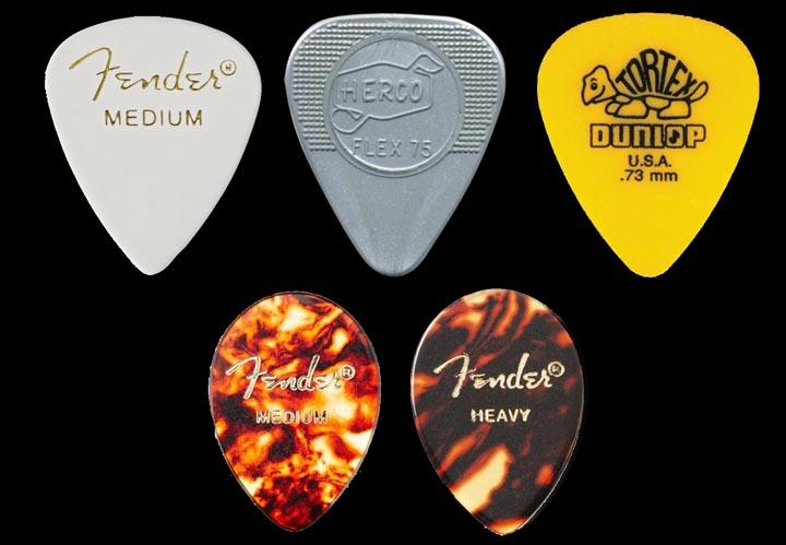 Fender Teardrop Pick : David gilmour tone building