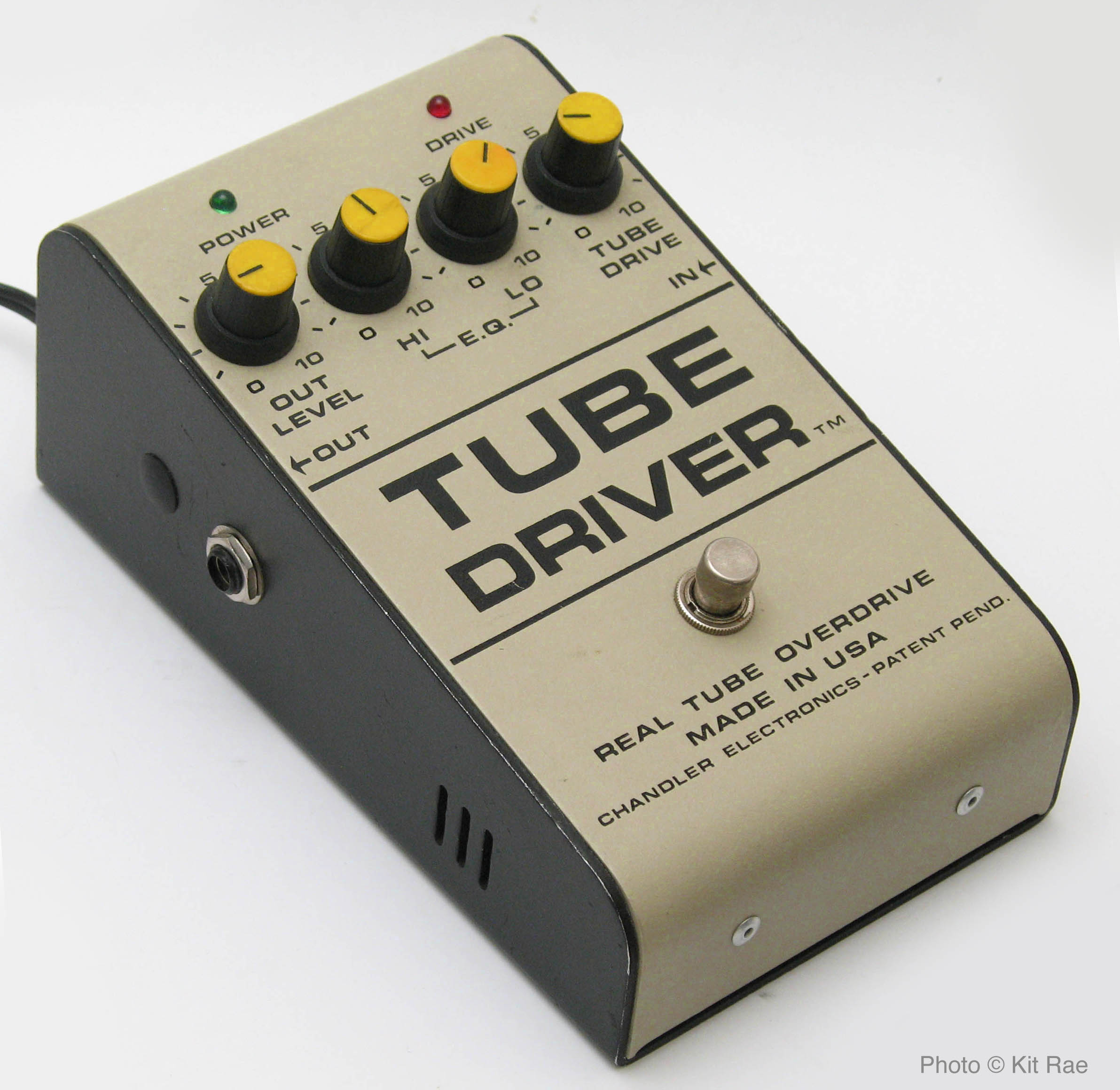 Bk Butler Tube Driver Guitar Circuits And Schematics Fuzzi Amps Other Effects Amplifier Or Integrated Circuit Chip A Pre Amp Running On Starved Voltage To Generate The Distortion Which Led Popular 4 Knob