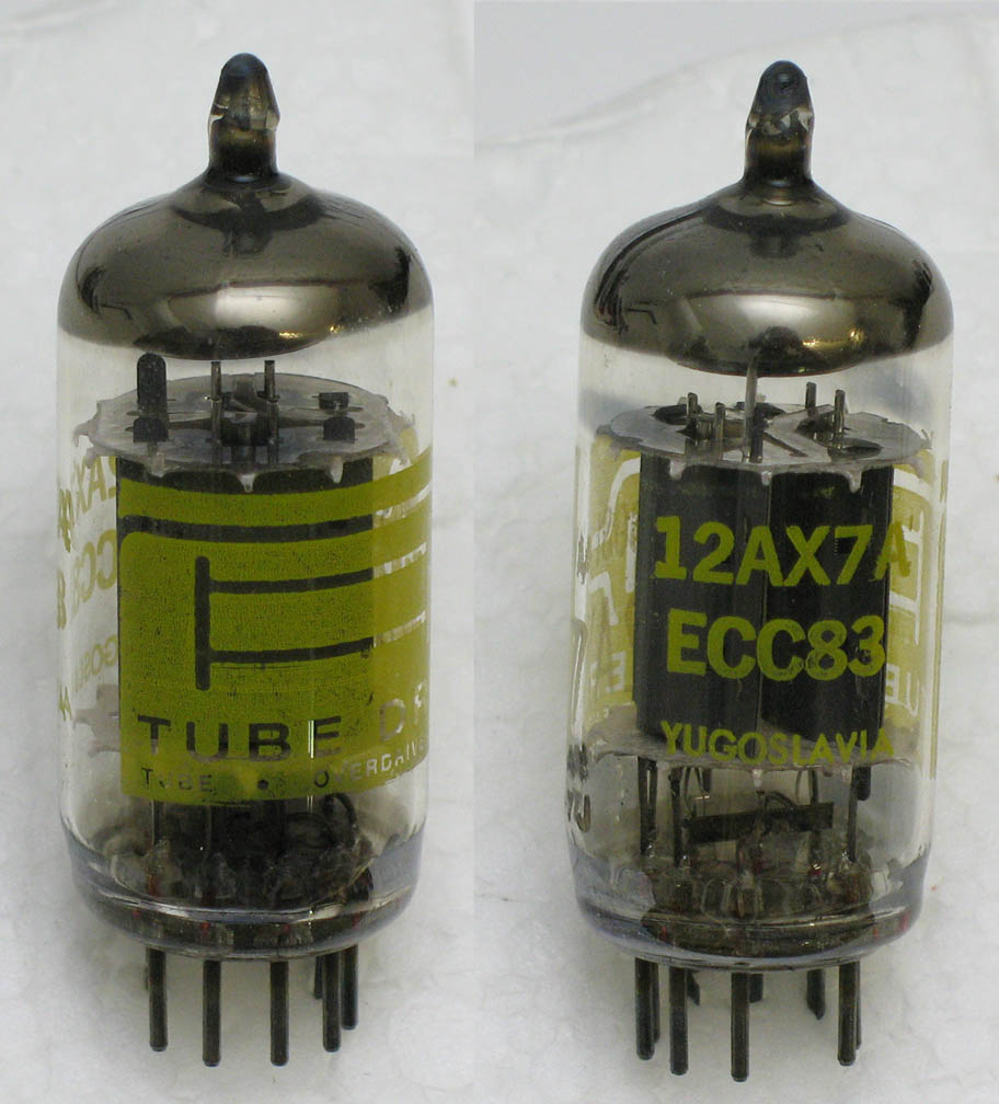 Bk Butler Tube Driver Electronics Manufacturerelectro Plate Circuitry Dragon Circuits Shown Above Left To Right An Original Long Ei Yugoslavian Ecc83 A Re Branded Marked That Shipped With The