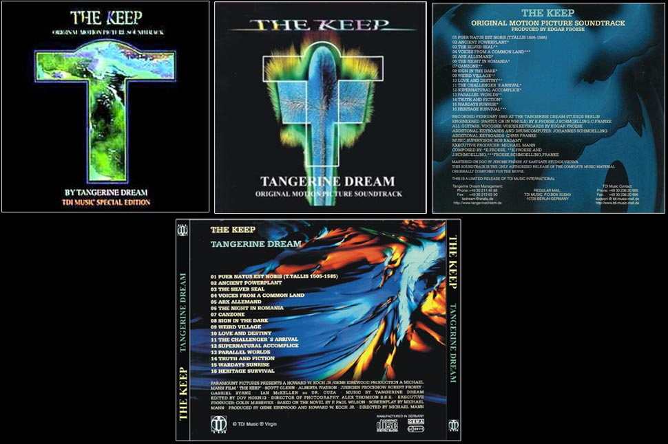 The Keep Original Soundtrack by Tangerine Dream
