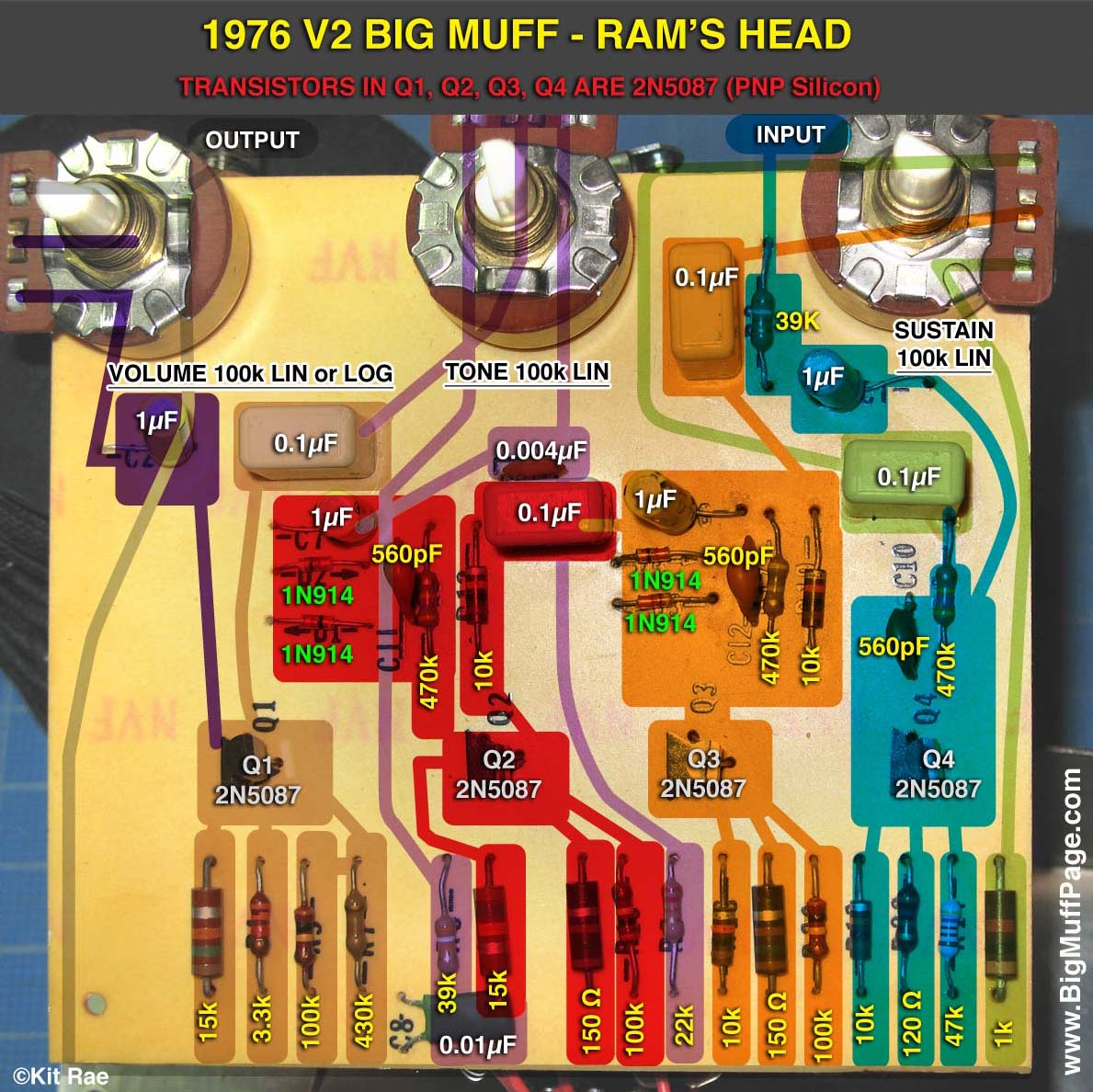 Big Muff Transistors And Other Components 4 Pin Diode Wiring Diagram